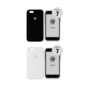 iFlash for iPhone 7 セルフィーライト付きスマホケース ライトブルー