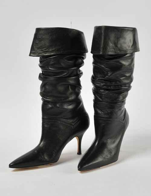 マノロブラニク Manolo Blahnik ニーハイブーツ 靴 レディース M-USSARO GALA90 ブラック 送料無料 アウトレット 3000円OFF クーポンプレゼント 目玉商品17AW