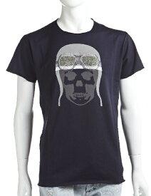 ルシアンペラフィネ lucien pellat-finet ペラフィネ Tシャツ 半袖 丸首 メンズ EVH1476 ネイビー 送料無料 楽ギフ_包装 10%OFFクーポンプレゼント