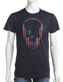 ルシアンペラフィネ lucien pellat-finet ペラフィネ Tシャツ 半袖 丸首 メンズ EVH1658 ネイビー 送料無料 楽ギフ_包装 10%OFFクーポンプレゼント