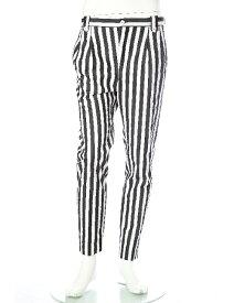 ダニエレアレッサンドリーニ DANIELEALESSANDRINI パンツ スラックス PANTALONE LONDON 95 メンズ P3094S18063501 ホワイト×ブラック 送料無料 楽ギフ_包装 10%OFFクーポンプレゼント