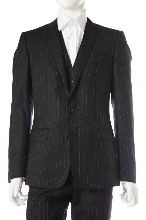 ドルガバ ドルチェ&ガッバーナ DOLCE&GABBANA 3ピーススーツ 2つボタン センターベント シングル メンズ G1UGMT FR2RP ダークグレイ 送料無料 アウトレット 10%OFFクーポンプレゼント 【ラッキーシール対応】