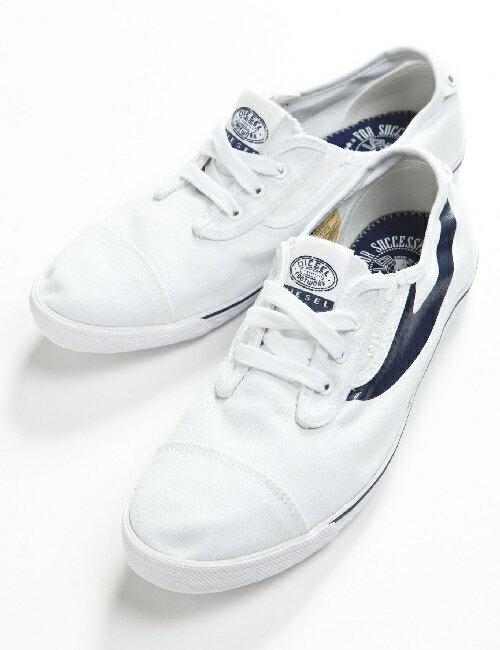 ディーゼル DIESEL ディーゼル スニーカー 靴 ディーゼル ローシューズ ディーゼル メンズ Y00053 PR012 ホワイト×ブルー ディーゼル DIESEL ディーゼル 3000円OFF クーポンプレゼント