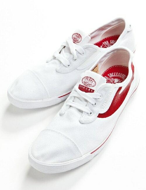 ディーゼル DIESEL ディーゼル スニーカー 靴 ディーゼル ローシューズ ディーゼル メンズ Y00053 PR012 ホワイト×レッド ディーゼル DIESEL ディーゼル 3000円OFF クーポンプレゼント