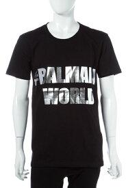【お買い物マラソン 10%OFFクーポン配布】バルマン BALMAIN Tシャツ 半袖 丸首 メンズ W6HJ601I005M ブラック 送料無料 楽ギフ_包装 10%OFFクーポンプレゼント SALE16AW2 【ラッキーシール対応】