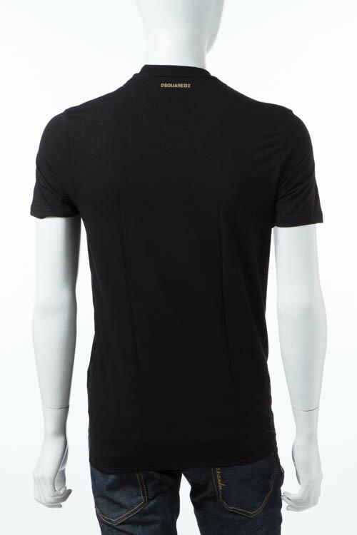 ディースクエアード DSQUARED2 Tシャツアンダーウェア Tシャツ 半袖 丸首 メンズ D9M200910 ブラック 送料無料 3000円OFF クーポンプレゼント DSQ限定特価
