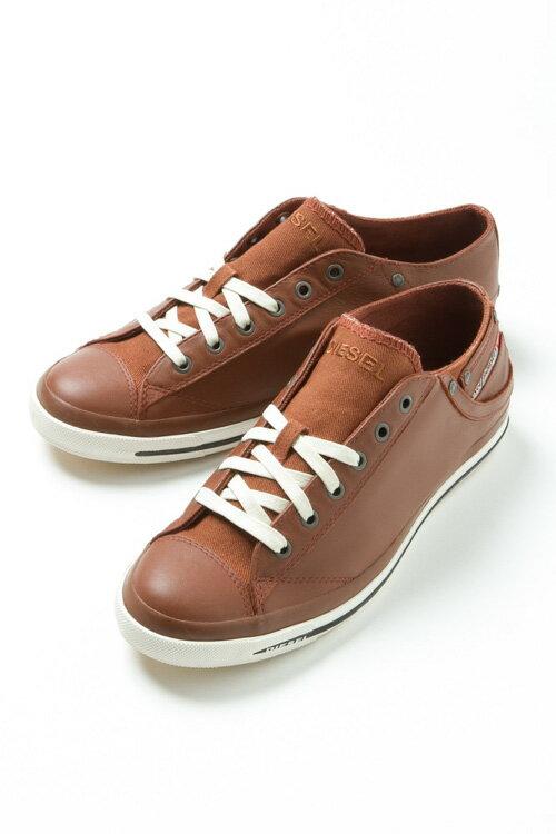 ディーゼル DIESEL スニーカー ローカット シューズ EXPOSURE LOW I - sneakers メンズ Y00321 PR052 ブラウン 送料無料 3000円OFF クーポンプレゼント DSL大量入荷