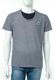 ダニエレアレッサンドリーニ DANIELEALESSANDRINI Tシャツ 半袖 丸首 MAGLIA TOGER BIC MC メンズ M6181E6873700 ホワイト×ブルー 送料無料 楽ギフ_包装 10%OFFクーポンプレゼント