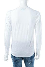 ディースクエアード DSQUARED2 Tシャツアンダーウェア ロングTシャツ ロンT 長袖 Vネック メンズ D9M600660 ホワイト 送料無料 楽ギフ_包装 10%OFFクーポンプレゼント