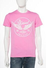 ディーゼル DIESEL Tシャツ 半袖 丸首 T-DIEGO-XS MAGLIETTA メンズ 00SS33 0091B ピンク 楽ギフ_包装 10%OFFクーポンプレゼント