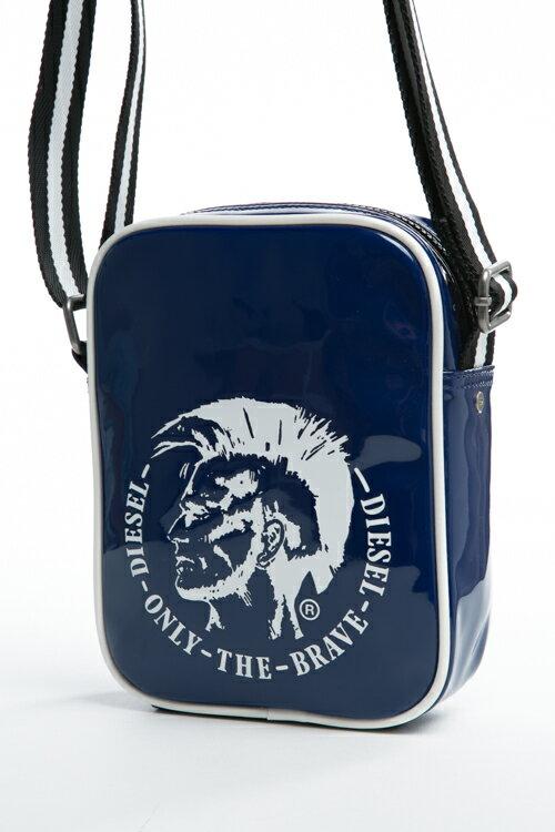 ディーゼル DIESEL ショルダーバッグ SHINY HAPPY DAYS SLIM R X03220 P1063 ブルー カバン 鞄 アウトレット 10%OFFクーポンプレゼント 【ラッキーシール対応】