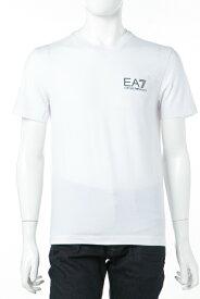 アルマーニ エンポリオアルマーニ Emporio Armani EA7 Tシャツ 半袖 Vネック メンズ 3ZPT53 PJ03Z ホワイト 送料無料 楽ギフ_包装 10%OFFクーポンプレゼント 【ラッキーシール対応】