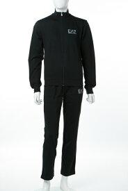 アルマーニ エンポリオアルマーニ Emporio Armani EA7 スーツ セットアップジャージ メンズ 3ZPV53 PJ05Z ブラック 送料無料 楽ギフ_包装 10%OFFクーポンプレゼント 【ラッキーシール対応】