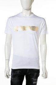 ディースクエアード DSQUARED2 Tシャツ 半袖 丸首 クルーネック メンズ S74GD0412S22844 ホワイト 送料無料 楽ギフ_包装 【ラッキーシール対応】
