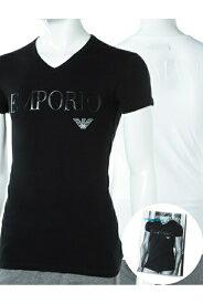 アルマーニ エンポリオアルマーニ Emporio Armani Tシャツアンダーウェア Tシャツ 半袖 Vネック メンズ 110810 CC716 ブラック 楽ギフ_包装 10%OFFクーポンプレゼント 【ラッキーシール対応】