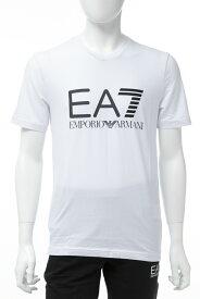 アルマーニ エンポリオアルマーニ Emporio Armani EA7 Tシャツ 半袖 Vネック メンズ 3GPT02 PJ03Z ホワイト 送料無料 楽ギフ_包装 10%OFFクーポンプレゼント 【ラッキーシール対応】