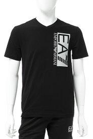アルマーニ エンポリオアルマーニ Emporio Armani EA7 Tシャツ 半袖 Vネック メンズ 3GPT57 PJ03Z ブラック 送料無料 楽ギフ_包装 10%OFFクーポンプレゼント 【ラッキーシール対応】