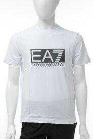 アルマーニ エンポリオアルマーニ Emporio Armani EA7 Tシャツ 半袖 丸首 クルーネック メンズ 3GPT62 PJ03Z ホワイト 送料無料 楽ギフ_包装 10%OFFクーポンプレゼント 【ラッキーシール対応】