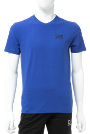 アルマーニ エンポリオアルマーニ Emporio Armani EA7 Tシャツ 半袖 Vネック メンズ 3GPT53 PJM5Z ブルー 送料無料 楽ギフ_包装 10%OFFクーポンプレゼント 【ラッキーシール対応】