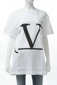 ヴァレンティノ Valentino Tシャツ 半袖 丸首 クルーネック オーバーサイズ A01 レディース RB0MG01G4LD ホワイト 送料無料 楽ギフ_包装 10%OFFクーポンプレゼント 2019年春夏新作 【ラッキーシール対応】