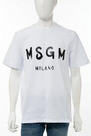 エムエスジーエム MSGM Tシャツ 半袖 丸首 クルーネック メンズ 2840MM97 207098 ホワイトB 送料無料 楽ギフ_包装 10%OFFクーポンプレゼント 2020年春夏新作