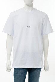 エムエスジーエム MSGM Tシャツ 半袖 丸首 クルーネック 2840MM162 207098 01 メンズ 2840MM162207098 ホワイト 送料無料 楽ギフ_包装 10%OFFクーポンプレゼント 2020年春夏新作