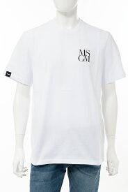 エムエスジーエム MSGM Tシャツ 半袖 丸首 クルーネック 2840MM231 207098 01 メンズ 2840MM231207098 ホワイト 送料無料 楽ギフ_包装 10%OFFクーポンプレゼント 2020年春夏新作