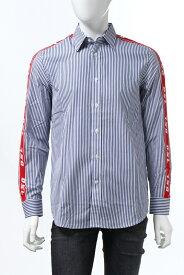 ディーゼル DIESEL シャツ ストライプシャツ 長袖 S-NORI CAMICIA メンズ 00SQ0R 0WATW ホワイト×ブルー 送料無料 楽ギフ_包装 10%OFFクーポンプレゼント