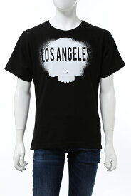 ハイドロゲン HYDROGEN Tシャツ 半袖 丸首 クルーネック E17 BLACKLOSANGELES メンズ R00244 BLACK LOS ANGELES 送料無料 楽ギフ_包装 2020年秋冬新作 10%OFFクーポンプレゼント 2020AW_SALE