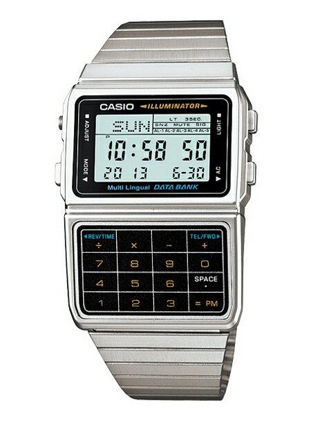 CASIO カシオ メンズ レディース 腕時計 デジタル データバンク シルバー DBC611-1D