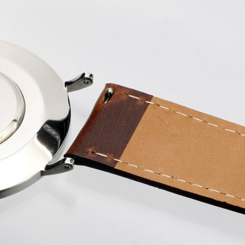 ≪本革≫メキシコ製レザー本革時計用ベルトバンドストラップ18mm/20mm腕時計のベルト付け替えに最適!≪ブラウン≫【メール便送料無料※代引不可※】