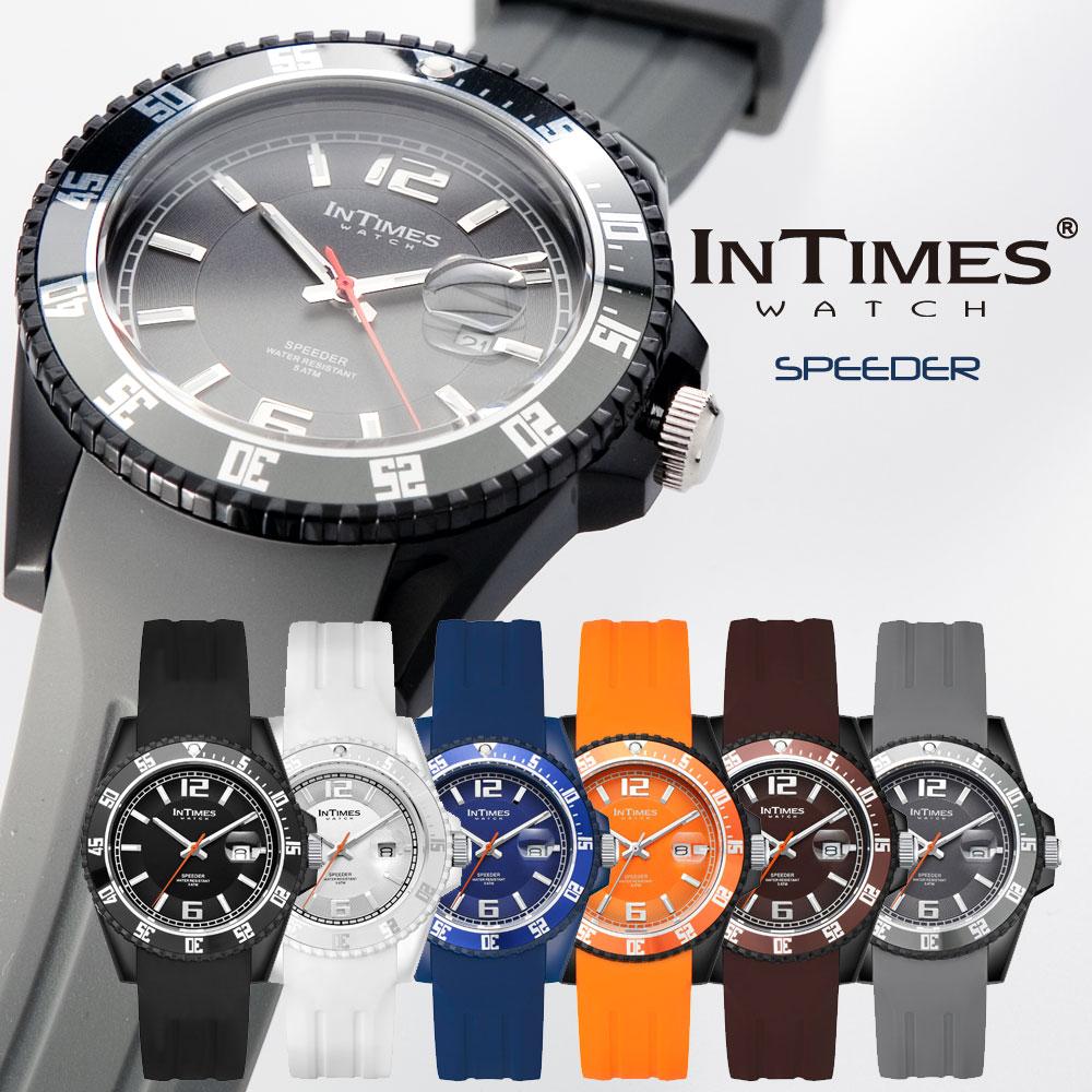 INTIMES インタイムス 44mm 大人 かわいい シリコン ウォッチ 防水 シリコン ラバー ダイバー メンズ レディース アナログ アウトドア カジュアル 腕時計 ITCF068