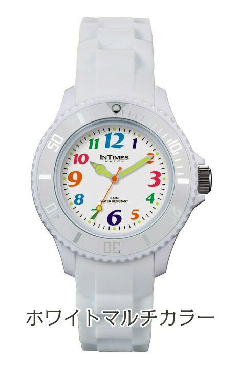 01d38052bc INTIMESインタイムス36mm軽量防水かわいいシリコンレディースキッズメンズアナログ腕時計子供ペア家族