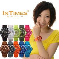 ☆=即納=☆INTIMES(インタイムス)日本初上陸ブランド!44mmPUレザーダイバーメンズ/レディースサイズ腕時計選べる10色♪