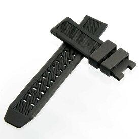 ルミノックス向け 時計 ベルト 23mm 互換 替え 汎用 ウレタン ラバー ベルト (ブラック×尾錠なし, 23mm) 適合モデル:3040 3050 3080 3400 3950 8400シリーズほか 【メール便送料無料】