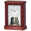 SEIKO セイコー 置き時計 電波 アナログ 回転飾り 木枠 茶木地 BY242B【お取り寄せ】