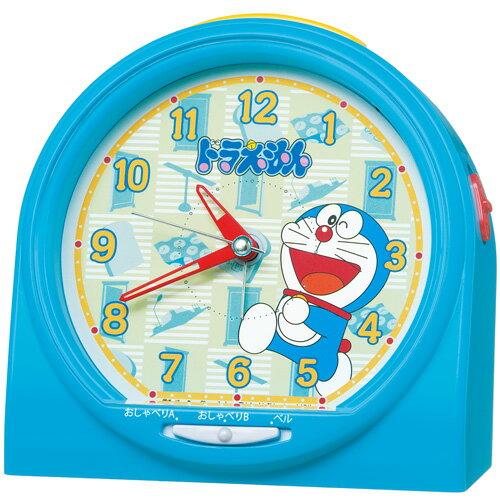 SEIKO セイコー 目覚まし時計 キャラクター ドラえもん おしゃべりアラーム アナログ 青 CQ137L 子供