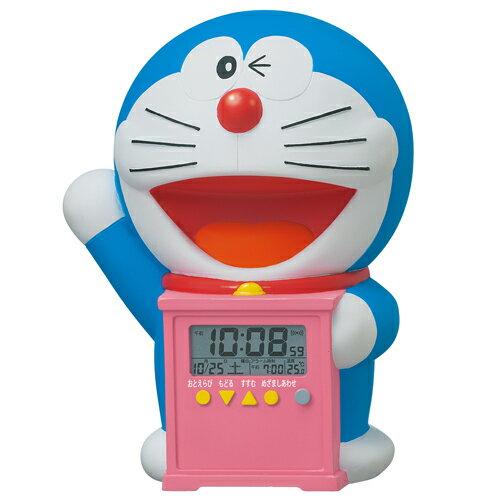 SEIKO セイコー 目覚まし時計 ドラえもん キャラクター型 おしゃべりアラーム デジタル 温度表示 JF374A 子供