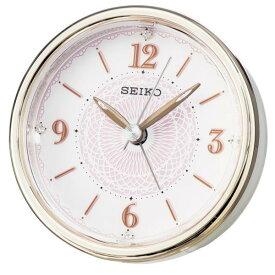 SEIKO セイコー 目覚まし時計 スタンダード アナログ ELバックライト 薄ピンク KR897P 【お取り寄せ】