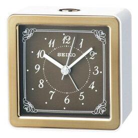 SEIKO セイコー 目覚まし時計 スタンダード アナログ LEDバックライト 銅色 KR898B 【お取り寄せ】