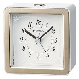 SEIKO セイコー 目覚まし時計 スタンダード アナログ LEDバックライト 薄ピンク KR898P 【お取り寄せ】