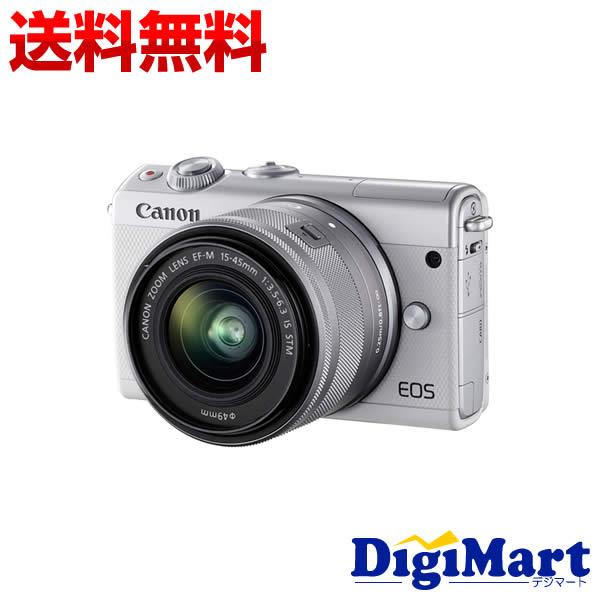 【送料無料】キャノン Canon EOS M100 EF-M15-45 IS STM レンズキット [ホワイト] 一眼レフカメラ【新品・国内正規品・ダブルズームキット化粧箱】