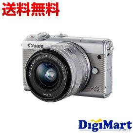 【送料無料】キヤノン Canon EOS M100 EF-M15-45 IS STM レンズキット [グレー] 一眼レフカメラ【新品・国内正規品・ダブルズームキット化粧箱】