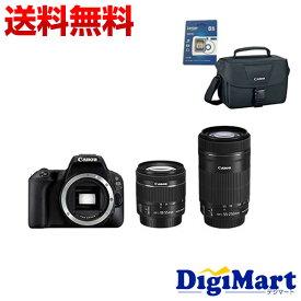 【送料無料】キャノン CANON EOS Kiss X9 ダブルズームキット & Canonバッグ & 16GB SDカードのセット デジタル一眼レフカメラ【新品・国内正規品】