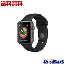 【送料無料】アップル Apple Watch Series 3 GPSモデル 38mm MTF02J/A [ブラックスポーツバンド]【新品】