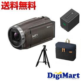 【送料無料】ソニーSONY HDR-CX680(TI) [ブロンズブラウン]ビデオカメラ + ソニー純正バッグ + 三脚 + ソニー純正予備バッテリーNP-FV70A お買い得お買い得セット【新品・国内正規品】