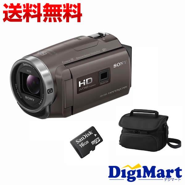 【楽天カード決済でポイント9倍】 [19日 10:00から]【送料無料】ソニー SONY HDR-PJ680 (TI) [ブロンズブラウン] ビデオカメラ + ビデオカメラバッグ + 16GB micro SDカード お買い得セット【新品・国内正規品】(HDRPJ680)