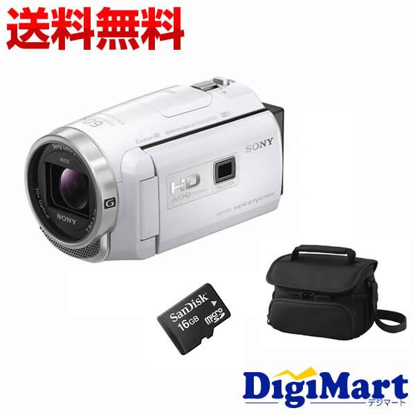 【楽天カード決済でポイント9倍】 [19日 10:00から]【送料無料】ソニー SONY HDR-PJ680 (W) [ホワイト] ビデオカメラ + ビデオカメラバッグ + 16GB micro SDカード お買い得セット【新品・国内正規品】(HDRPJ680)