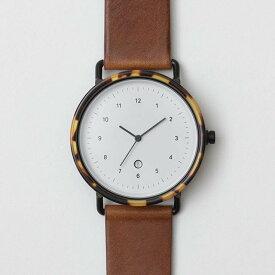 chiandchi チーアンドチー ESU 腕時計 レザーベルト B407 ブラック/ブラウン/ウイスキー 日本正規品