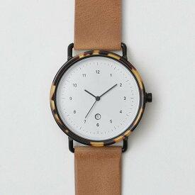 chiandchi チーアンドチー ESU 腕時計 レザーベルト AT06 ブラック/ハニー/ウイスキー 日本正規品